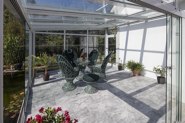 zasklená zahrada