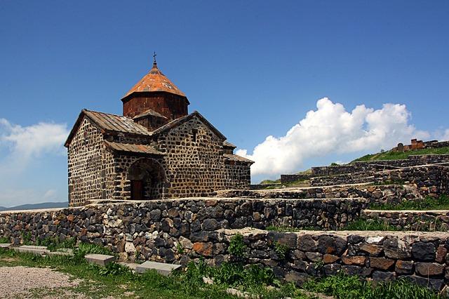 klášter v arménii